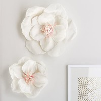 Crepe Flowers, Set of 2