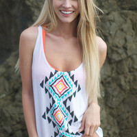 The Girl and The Water - Billabong - Pyramid Cove Tank / White - $32