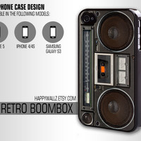 Boombox Iphone Case Iphone 4 case Hipster Iphone 5 case Iphone 4s case Samsung Galaxy S3 Case
