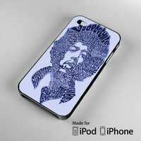 Jimi Hendrix Song Titles Collage iPhone 4S 5S 5C 6 6Plus, iPod 4 5, LG G2 G3, Sony Z2 Case