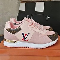 LV Shoes Louis Vuitton Sneakers Sports Flat Classic Shoes Pink