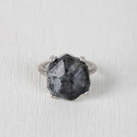 Hexagon Stone Statement Ring