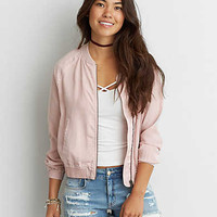 AEO Tencel Bomber Jacket , Blush