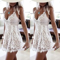 Women's Summer Dresses mini length Lace dress