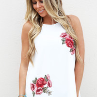 Roses Are Red Tank {Ivory}