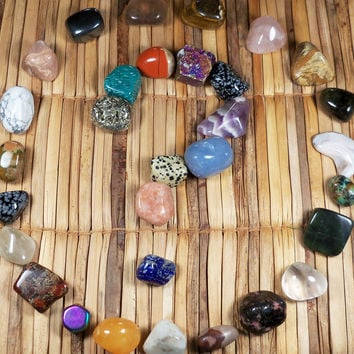 Mystery Stones Bag of 10 Healing Gemstones Intuitively Choosen Just For You By Spirit