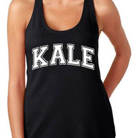 Kale Tank Top Women's Gym Workout Fitness Booty Funny Muscle Crossfit T-Shirt Yale