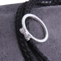 Lovely Bowknot Design Jewelry Ring With Micro Paved Bow Tie Sale
