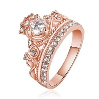 Queen Me Gold/Rose Gold Royalty Crown Ring