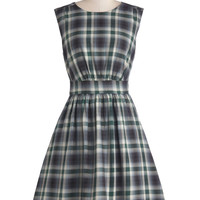 Emily and Fin Too Much Fun Dress in Prairie Plaid | Mod Retro Vintage Dresses | ModCloth.com