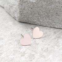 Heart's Desire Rose Gold Earrings