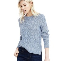 Cable Crewneck Sweater | Banana Republic