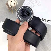 Versace new simple personality versatile smooth buckle belt