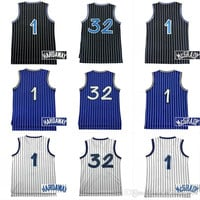Top Quality 1 Tracy McGrady 32 Shaquille O'neal 1 Penny Hardaway Mens Cheap Throwback Basketball Jersey Stitched Logo