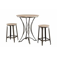 3-Piece Counter Height Table by Coaster