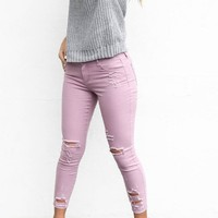SZ 11 In The Way Lilly Mid-Rise Skinny Jeans