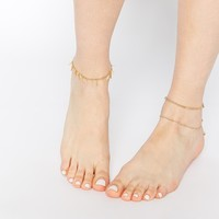 ASOS Fine Chain Anklet Pack of 3