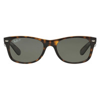 Ray Ban New Wayfarer Sunglass Tortoise Crystal Green Polarized RB 2132 902/58