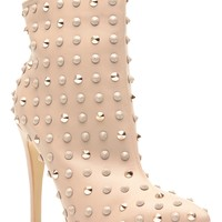Taupe Faux Leather Studded Pointed Toe Ankle Booties @ Cicihot. Booties spell style, so if you want to show what you're made of, pick up a pair. Have fun experimenting with all we have to offer!