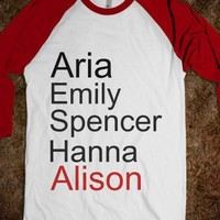 Pretty Little Liars 'A' Shirt (double sided)