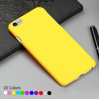 Cases For iPhone 7 Plus Super Slim Rubber Matte PC Hard Case Cover For iPhone SE 5s 6s plus Phone Bag For iPod Touch 6 Fundas