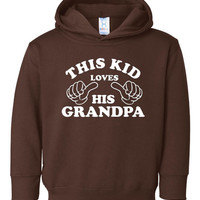 This Kid Loves HIs Grandpa Great Grandparents gift Youth Hooded Sweatshirt Sized 2T To Youth XL All colors