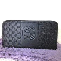 Gucci Women Leather Fashion Wallet Purse-1