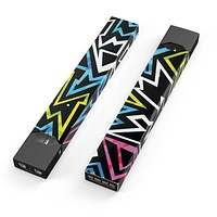 Crazy Retro Squiggles V1 - Premium Decal Protective Skin-Wrap Sticker compatible with the Juul Labs vaping device