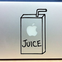 "Apple Juice Box Vinyl Decal Sticker Graphic for Mac book Macbook Pro  13"" 15"" 17"" Macbook Air"