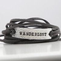 Wanderlust, Wander, Wanderlust Bracelet, Wanderlust Jewelry, Travel Bracelet,Travel Jewelry,Bracelet Wrap,Not all who wander