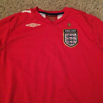 Sale!! Vintage Umbro England National team Home 2006/2008 Long sleeve Soccer jersey football shirt size Boys Large Free shipping within USA