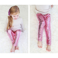 Little girls personalized red sequin pants Baby Girls Sequin Leggings,Toddler Gold Sparkle Leggings,Birthday Pants,Sequin Pants
