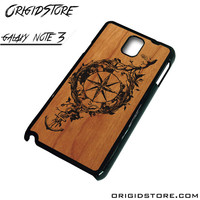 Compass Wood Case For Samsung Galaxy Note 3 Case