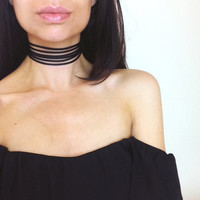 Summer Newest fashion jewelry accessories white Multilayer Lace Tattoo choker necklace for couple lovers' N141