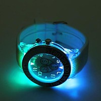 Geneva Woman Men Fashion Luminous LED Light Quartz Movement Watch