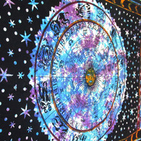 2016 Fashion Mandala Colorful Starry Sky Tapestry Wall Hanging Beach Picnic Camping Travel Blanket Home Decoration
