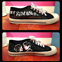 My Chemical Romance Shoes by RisingRedFox on Etsy