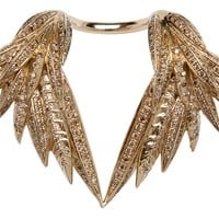 Palm Feather Double Ring