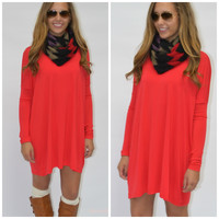 Ellington Red Piko Dress
