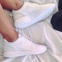 """NIKE"" White/Black classic Women Casual Sport Shoes Sneakers"