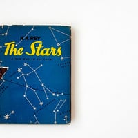 Reserved for Amy - Vintage 1950s Astronomy Book - The Stars by H.A. Rey - 1956 - Year-Round Stargazing, Wall Size Poster of the Night Sky