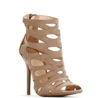 Taupe City Cutout Heels
