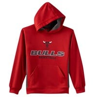 Majestic Chicago Bulls Fleece Hoodie - Boys 8-20, Size: