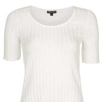 Knitted Frill Tee - Clothing