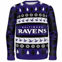 Baltimore Ravens Official NFL (Too Many) Ugly Sweater by Klew