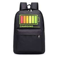 University College Backpack Reether Intelligent Voice Control Flashing Light   Student Computer Bag Teenager Travel Nylon Laptop AT_63_4