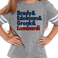 Brady and Edelman and Gronk and Lombardi Kids Patriots Tee Jersey | Customized NFL Shirts | Matching Football Shirts | New England Patriots - Edit Listing - Etsy