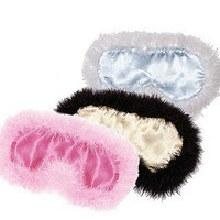 Silk Satin Marabou Feather Sleep Mask