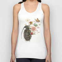 Containability to Sustainability Unisex Tank Top by Corinne Reid