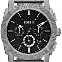 Fossil FS4776 Stainless Steel Black Dial Mens Watch